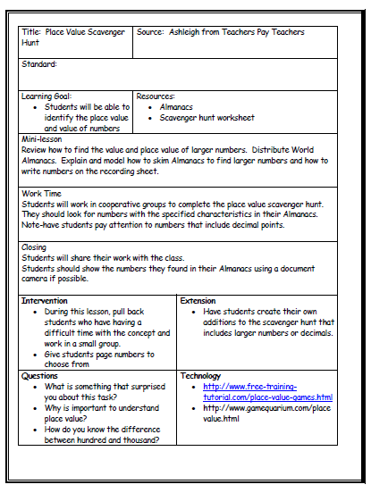 team lesson plan template tn lesson plan template with differentiated instruction