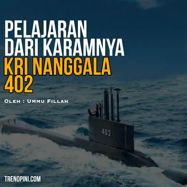 Alutsista sangat penting dalam pertahanan negara jika terjadi perang. Sementara KRI Nanggala 402 tenggelam saat latihan menembakkan torpedo. Sejumlah 53 prajurit terbaik meninggal dunia.
