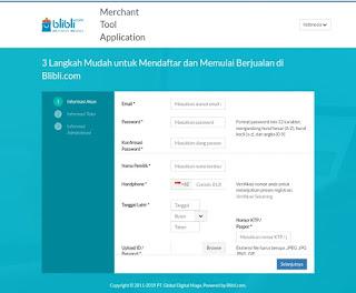 Cara membuka toko di Blibli.com