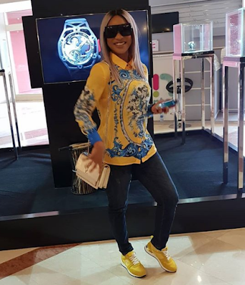 TONTO DIKEH STEPS OUT IN MATCHING TOP AND SNEAKERS