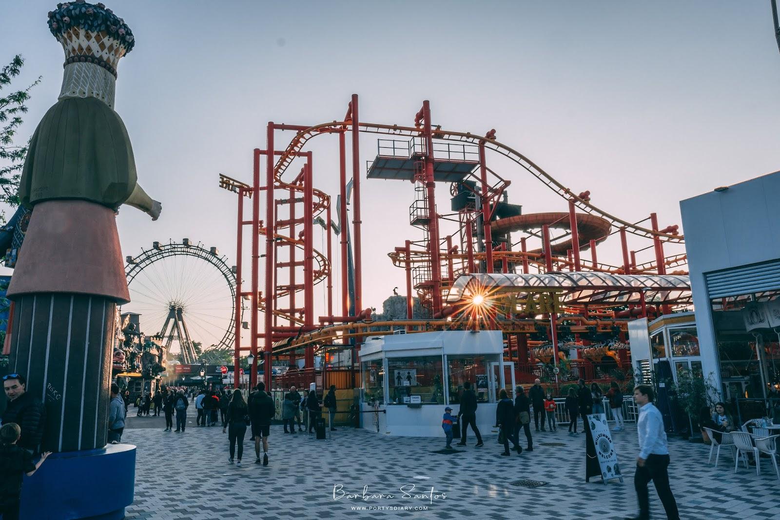 rollercoasters at Würstelprater -  Vienna