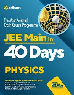ARIHANT: 40 Days Crash Course for JEE Main Physics[PDF]