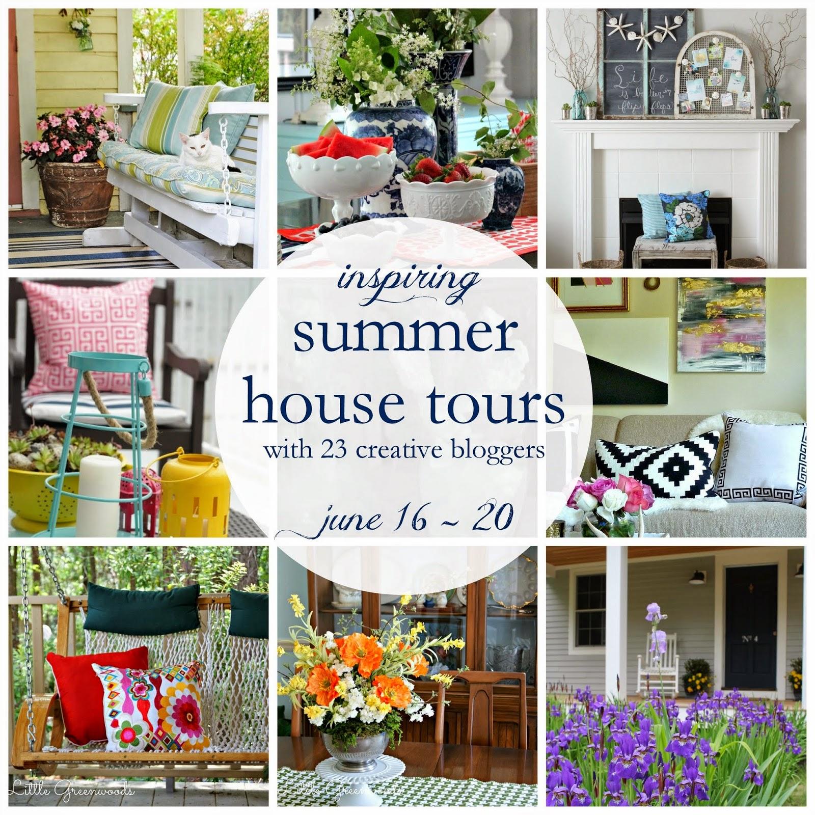 Summer house tour via somuchbetterwithage.com