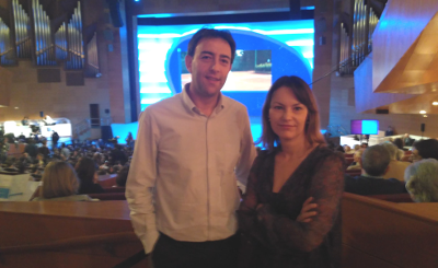 X. Miguel Fernández e Carmen García, representantes da CIG