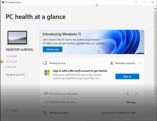 برنامج لمعرفة هل جهازك يدعم ويندوز 11
