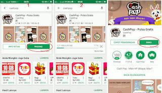 cashpop aplikasi penghasil pulsa gratis