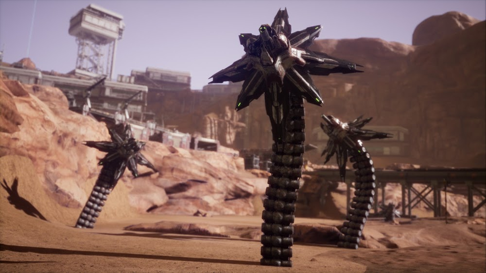 Memories of Mars game image - mechanical sandworms