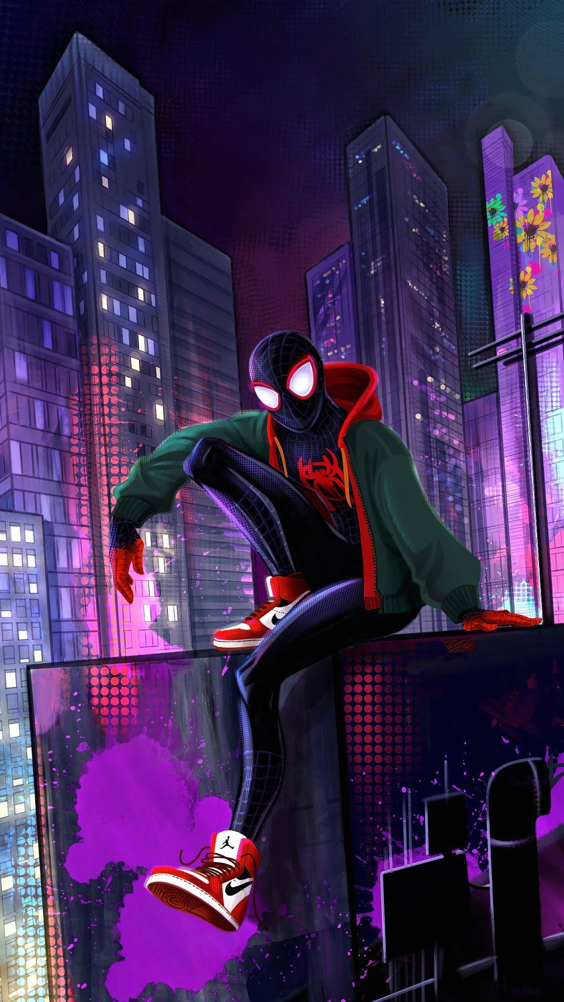 Spider man miles Mobile Wallpaper