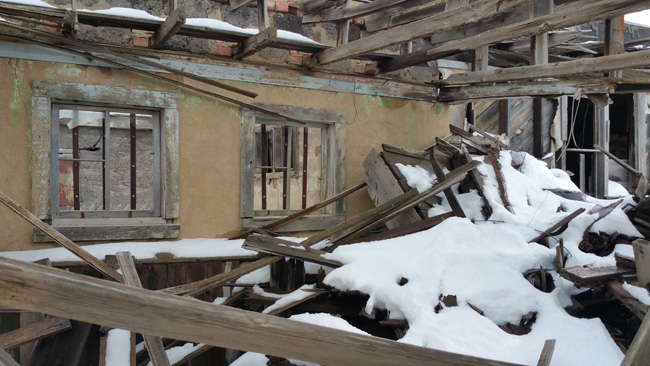 Abandoned buildings in Ludlow, Colorado Ghost Town
