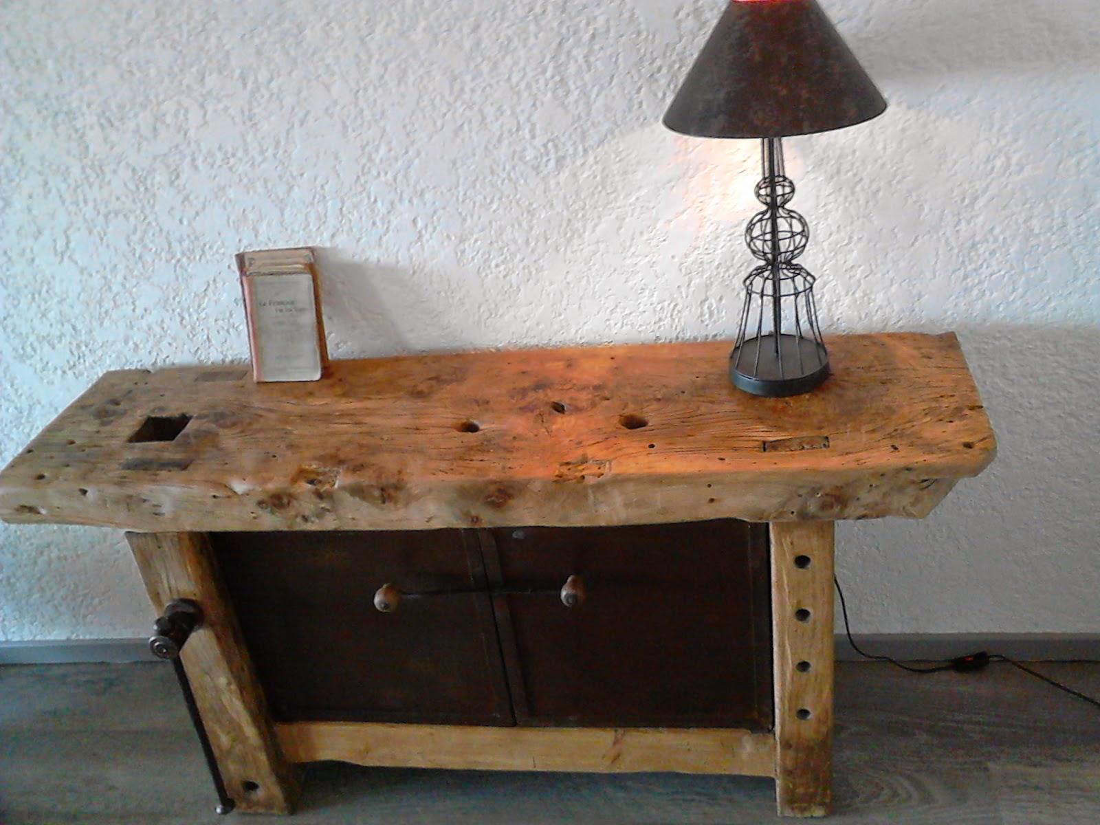 meubles et objets de d coration style industriel etabli de menuisier style industriel vendu. Black Bedroom Furniture Sets. Home Design Ideas