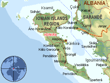 ostrvo krf mapa Per@ Travel: KRF ostrvo krf mapa