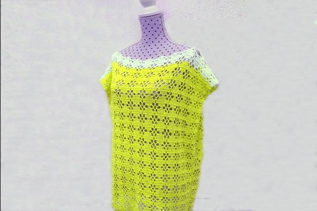 6 - Imagenes Crochet Blusa túnica playera a crochet facil sencilla paso a paso por Majovel Crochet