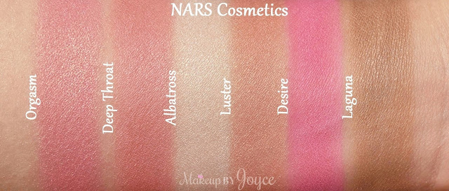 Nars Luster Desire Powder Blush Albatross Highlighter Swatches