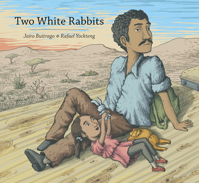 http://www.amazon.com/Two-White-Rabbits-Jairo-Buitrago/dp/1554987415/ref=sr_1_1?s=books&ie=UTF8&qid=1449240085&sr=1-1&keywords=two+white+rabbits