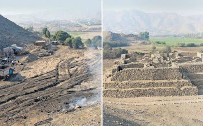Huaca El Paraiso, Daño contra el patrimonio, Atentado patrimonio cultural Peru,