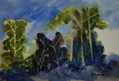 Watercolor - John Keese - Entry to Forest