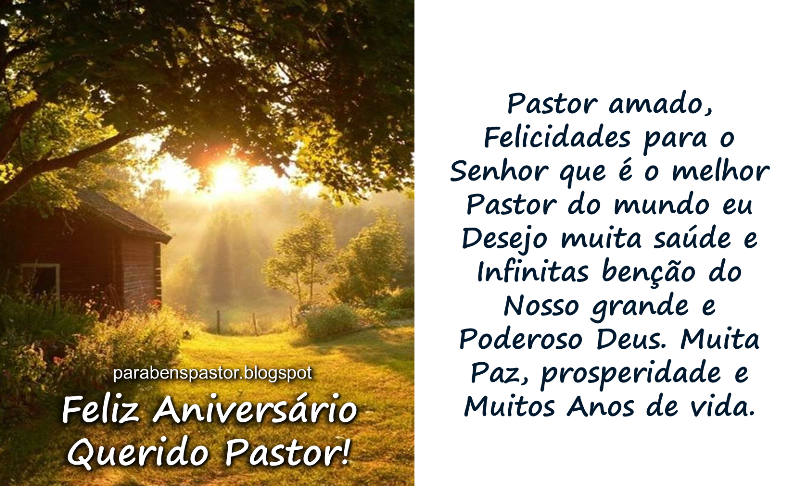 Mensagem De Aniversario Evangelico: Aniversário Para Pastor