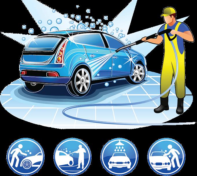 Car wash Cartoon Illustration, Car wash beauty care services, car wash, compact Car, blue png by: pngkh.com
