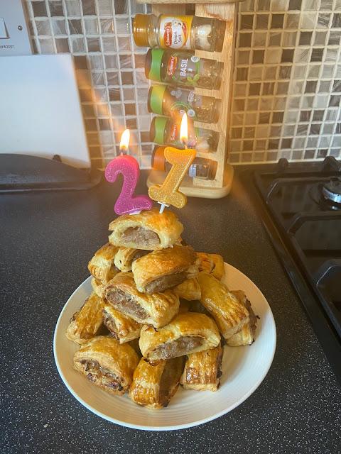 Sausage Roll birthday cake
