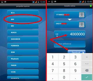 memilih bank BNI di pilihan Mobile banking