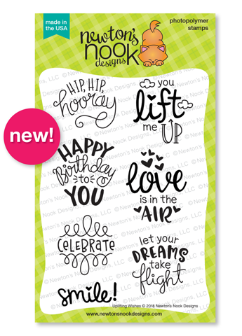 | Uplifting Wishes Stamp Set by Newton's Nook Designs #newtonsnook #handmade
