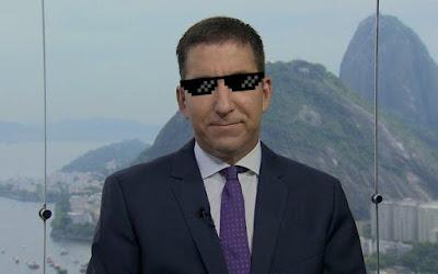 Greenwald com oclinho de zuera