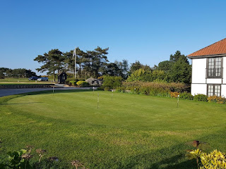 Putting Green at the Thorpeness Golf Club and Hotel in Suffolk