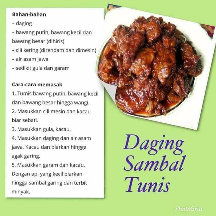 resepi daging sambal tumis