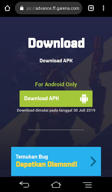 Cara Download Advance Server Free Fire Terbaru Agustus 2019