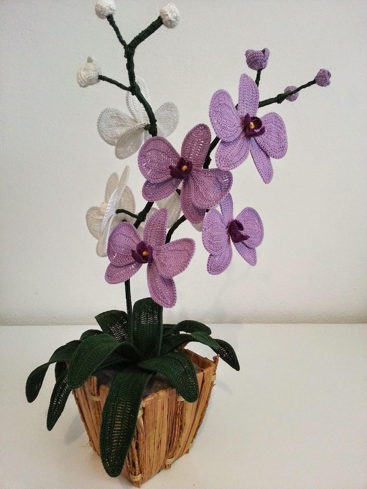 Free Crochet Pattern Orchidee : Il Blog di Sam: Spiegazione dellOrchidea alluncinetto