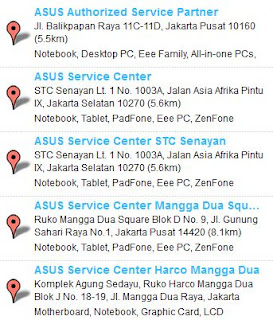 Service Center ASUS jakarta