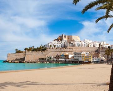 La playa de Peñíscola, turismo