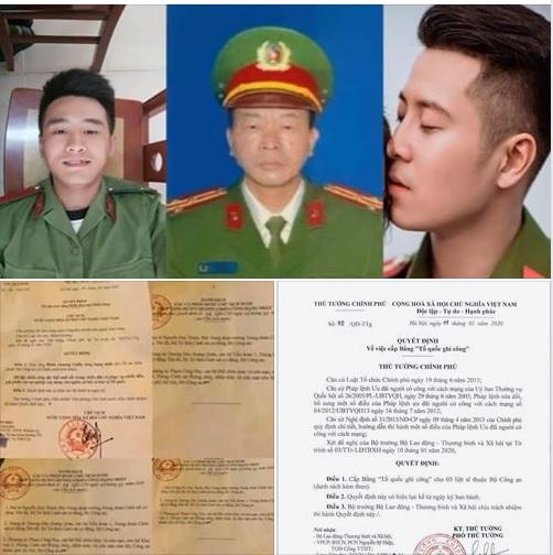 Tổ chức tang lễ cho 3 chiến sĩ hi sinh vụ Đồng Tâm vào ngày 16/1/2020