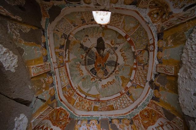 Affreschi in una chiesa rupestre della Ihlara valley-Cappadocia