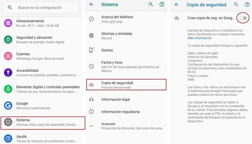 ¿Cómo configurar una copia de seguridad automática en dispositivos Android?