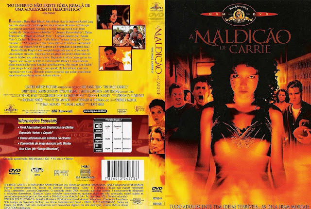 Capa DVD A Maldição de Carrie