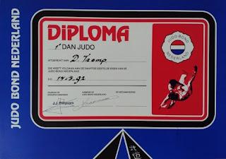 Judo first dan diploma