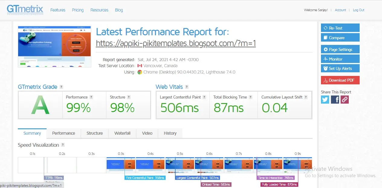 Appiki-blogger-template-webspeed-test