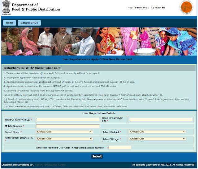 Duplicate Ration Card Process Chandigarh
