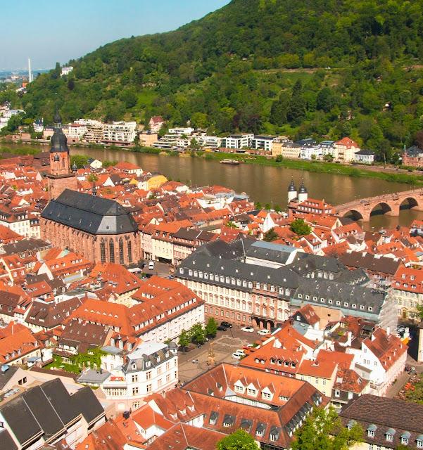 Heidelberg, widok, zamek, Stare Miasto, Neckar
