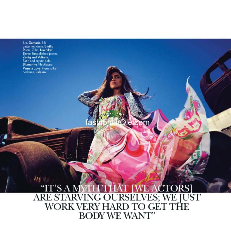Wallpaper World: Deepika Padukone's HQ Scans from Vogue ...