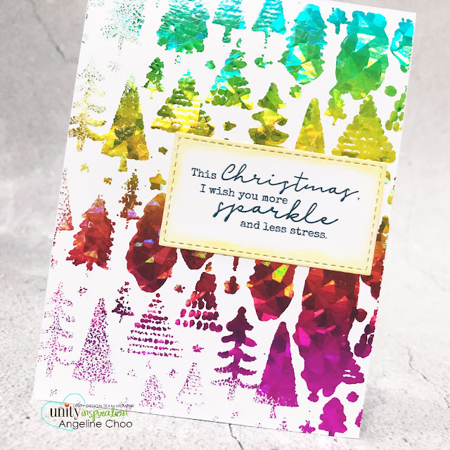 ScrappyScrappy: Unity Stamp - Christmas Edition #scrappyscrappy #unitystampco #card #cardmaking #christmascard #holidaycard #youtube #quicktipvideo #stamping #christmasedition #rainbowfoiling #decofoil #rainbowshatteredglass #annbutler #moresparklelessstress #brutusmonroe #freshlycut #backgroundstamp #heidiswappminiminc