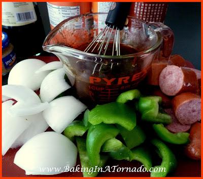 Glazed Kielbasa Sandwich | www.BakingInATornado.com | #recipe