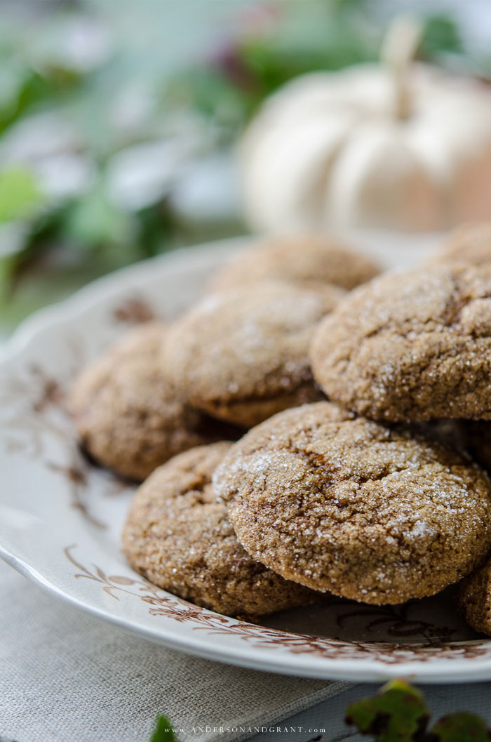 A quick and easy recipe for a delicious fall cookie - Pumpkin Ginger Molasses Cookies