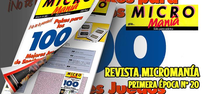 Revista Micromanía Primera época Nº 20 (1987)