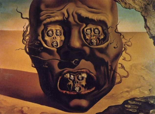 the face of war salvador dali