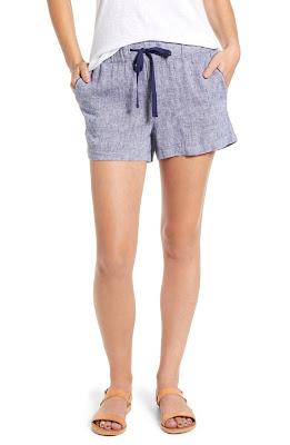 Calson Stripe Linen Shorts