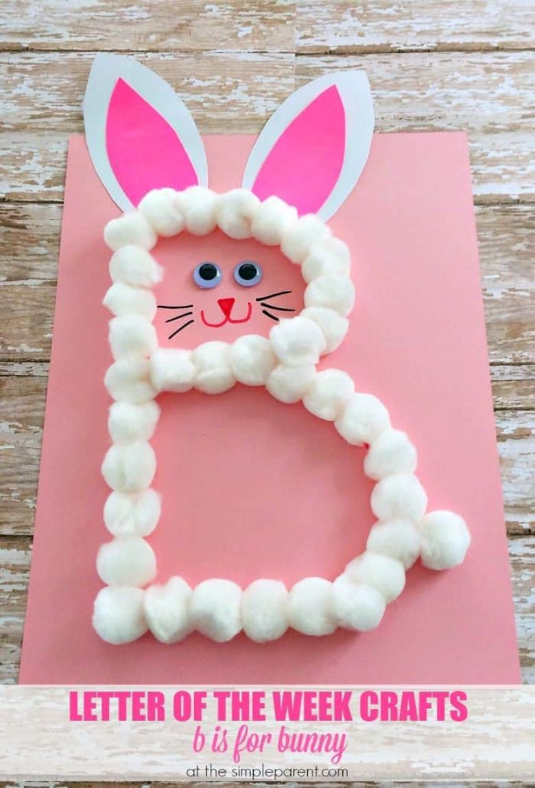 Easter crafts for preschoolers - B is for bunny craft