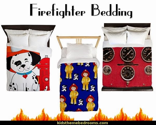 firefighter bedding-fireman bedding-firetruck theme bedding-dalmatian theme bedding