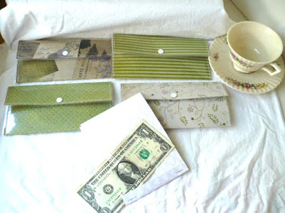 Laminted Cash Envelopes with Snap Closure